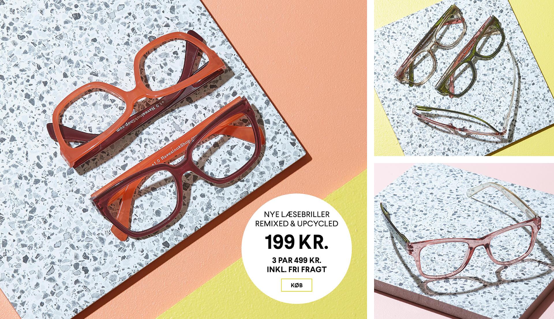 Firkantede læsebriller<br>