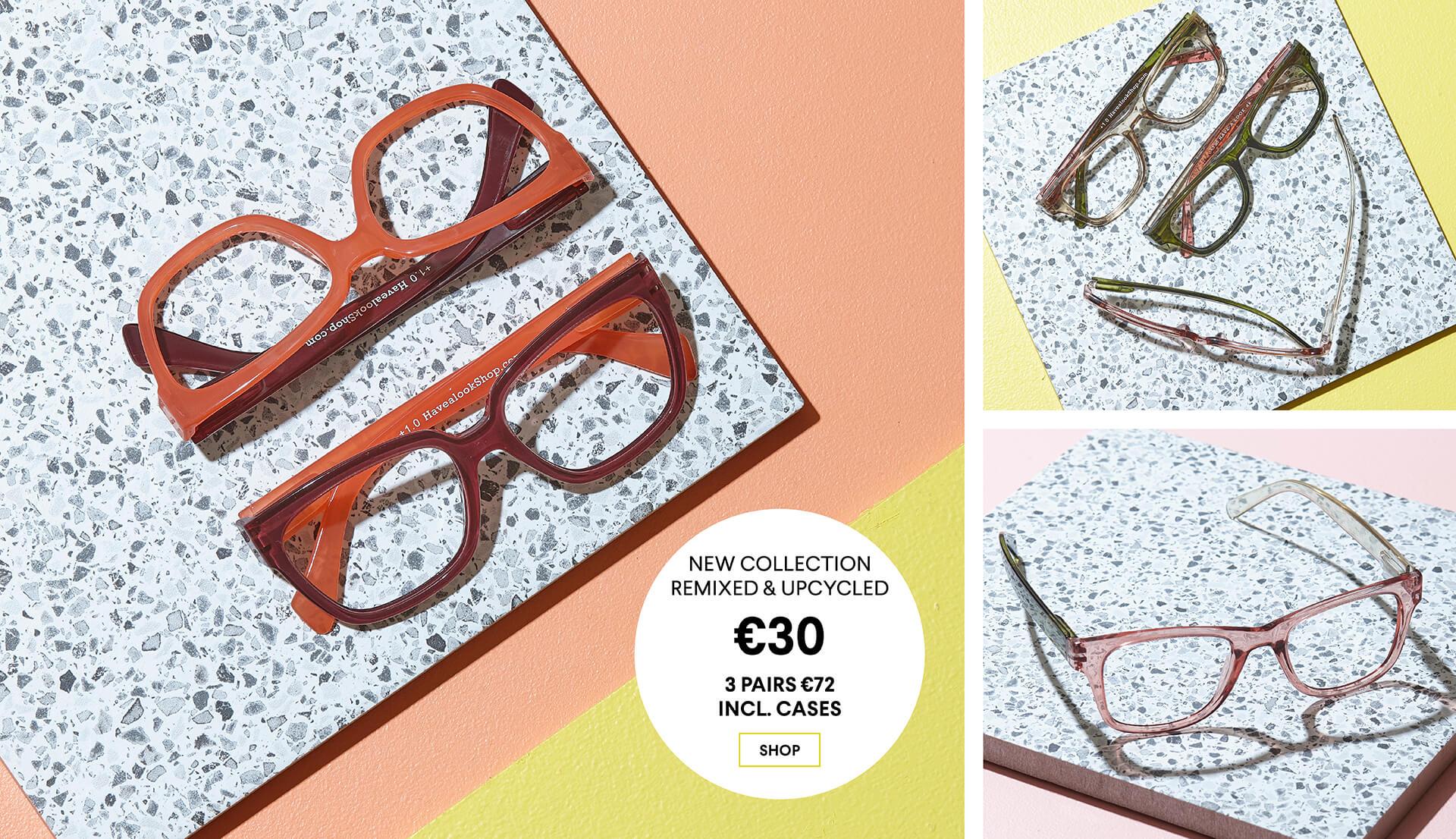Square reading glasses<br>