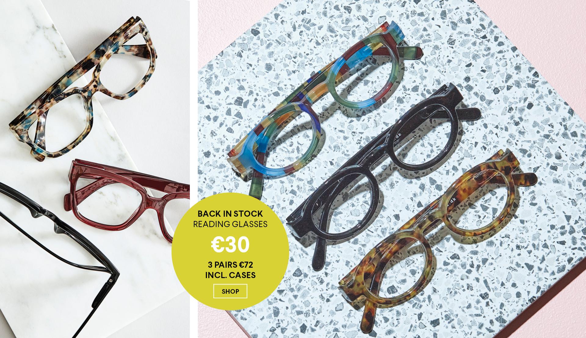 Back in stock reading glasses