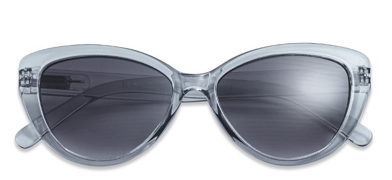 sonnenbrille mit sehst rke cat eye grau. Black Bedroom Furniture Sets. Home Design Ideas