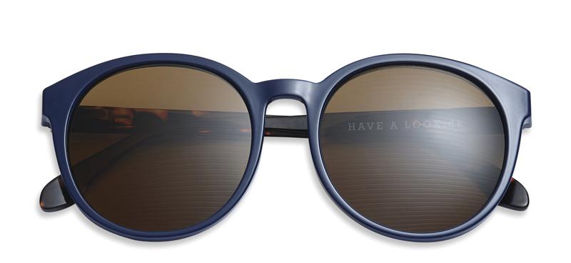 sonnenbrille mit sehst rke diva blau horn brillen. Black Bedroom Furniture Sets. Home Design Ideas