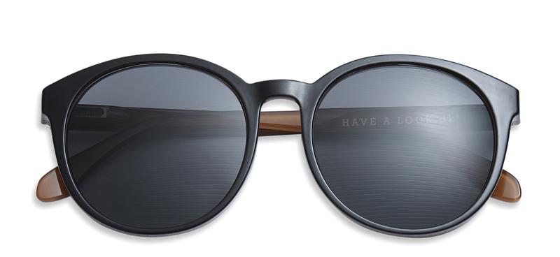 sonnenbrille mit sehst rke diva schwarz brillen. Black Bedroom Furniture Sets. Home Design Ideas