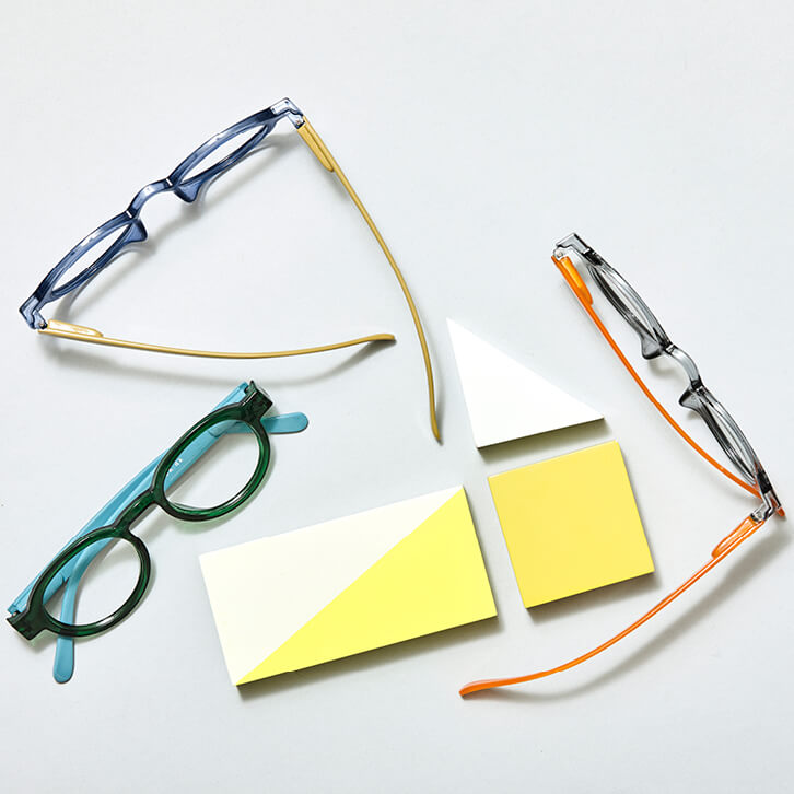 Colorful reading glasses <br>