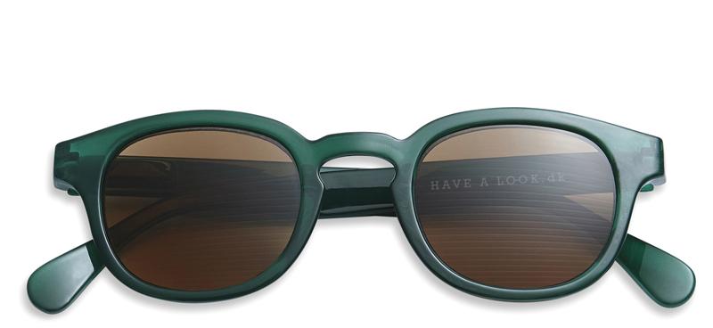 Solbriller m. læsefelt Type C green